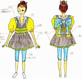 オーダーよさこい屋/よさこい衣装製作事例/明新森組cheza watoto イッチョライ