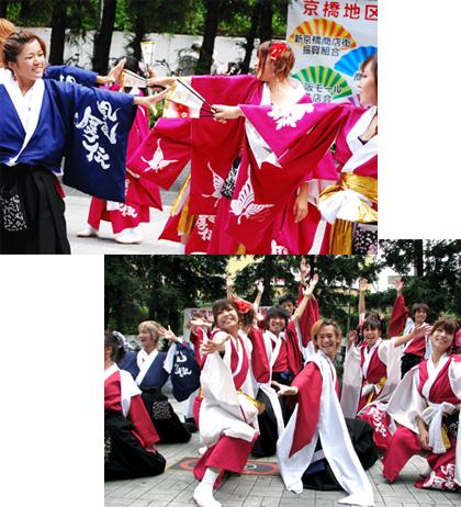 よさこい屋が、制作した京都文教大学よさこいサークル風竜舞伝のよさこい・太鼓衣装