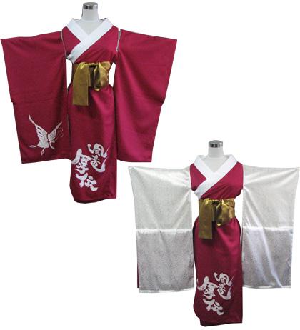 よさこい屋は、よさこい・太鼓衣装しています。京都文教大学よさこいサークル風竜舞伝は、女性用花魁風半天を制作しました。