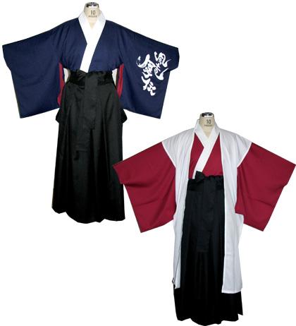 よさこい屋は、よさこい・太鼓衣装しています。京都文教大学よさこいサークル風竜舞伝は、男性用の早替え半天を制作しました。