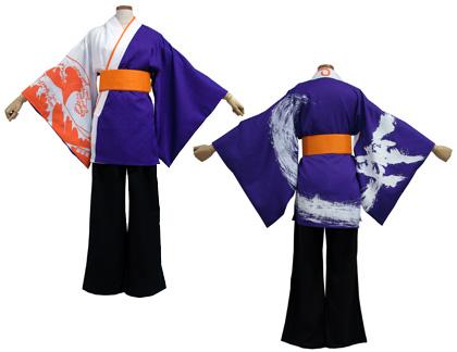 よさこい衣装のあわせ半天制作事例は、筑波大学斬桐舞さんです。早脱ぎ前。上着はあわせ半天を着用します。