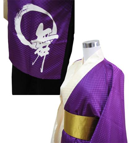 よさこい屋が、制作した輪舞会のよさこい・太鼓衣装です。左前身頃にはチームロゴををプリントしました。