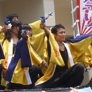 よさこい衣装の両用半天制作事例は、桃山学院大学よさこい連「真輝-SANAGI-」さんです。