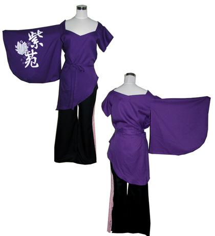 よさこい屋が、制作した紫苑連のよさこい・太鼓衣装です。