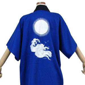 Tシャツの袖が隠れる5分袖の両用半天。