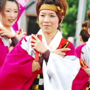 よさこい屋で制作した水仙紅羅舞のよさこい・太鼓衣装。