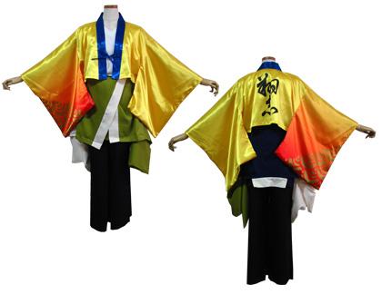 よさこい衣装の制作事例は、あわせ半天の京炎そでふれ!Tacchiさんです。インナーは、フルカラープリントで鮮やかに。