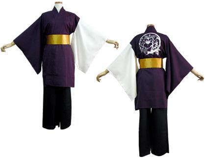 よさこい衣装の制作事例は、両用半天のよさこいチーム「椿」さんです。両用半天とよさこい帯を制作。渋くてかっこいい衣装です。