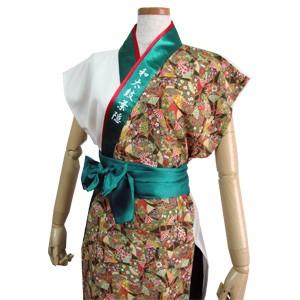 太鼓衣装の制作事例は、袖なしあわせ半天の和太鼓葉隠さんです。