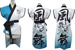 衣装一新!風舞さまチームオリジナルプリントで袖なし半天を作りました。
