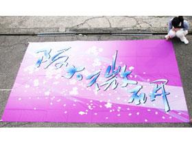 オーダーよさこい屋/よさこい旗製作事例/(財)阪大微研観音寺研究所チームBIKEN
