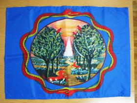 0.5m×0.7mと0.6m×0.9mの旗を2枚制作しました。