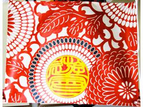 花モチーフのデザインがキレイ。0.7m×0.9mの旗