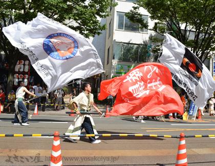 よさこい旗の制作事例は、2.5m×3.5m大旗の住吉幸清メッキさんです。