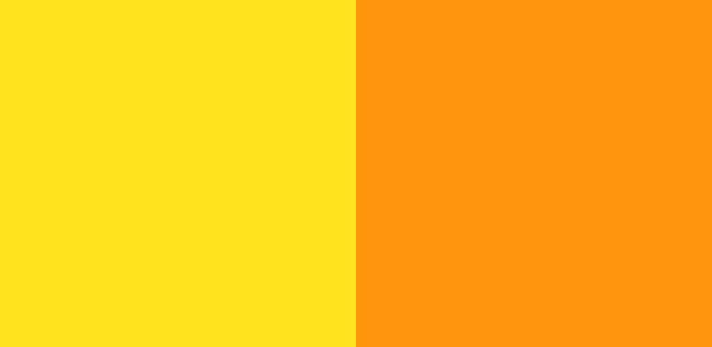 黄×オレンジ