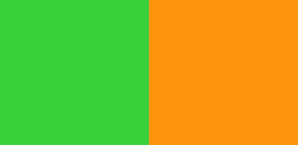 緑×オレンジ