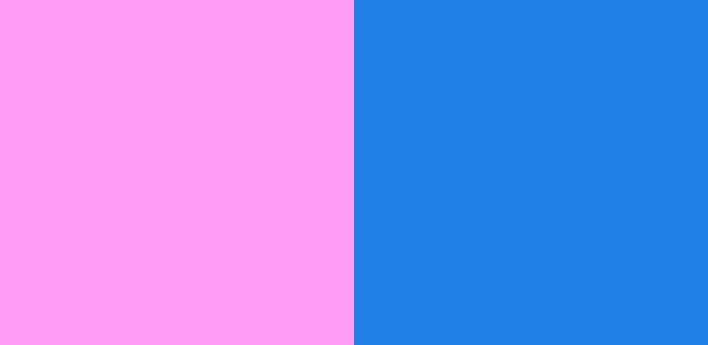 ピンク×青