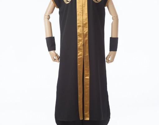 黒と金の格好良い立ち衿半天