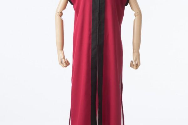 人気色の赤×黒の立ち衿半天