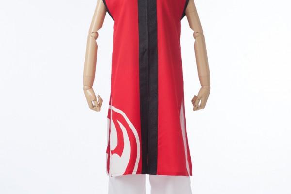 赤と黒のシンプル立ち衿半天