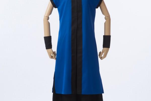 衿の内側を色替え!チラリと見える朱赤がおしゃれな立ち衿半天。