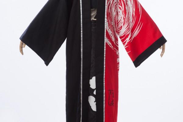 赤と黒の格好良いロングハッピ