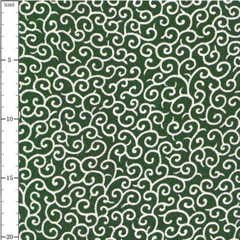 唐草文様(からくさもんよう) GR:緑×白