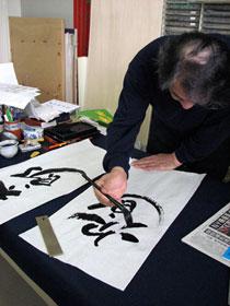 Tシャツは、「武蔵」のSYO家吉川壽一先生に 「太郎」と「次郎」の文字をお願いしました。