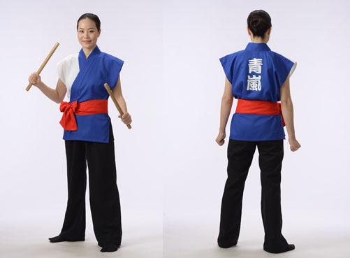 女性モデル着用半天:武蔵青嵐太鼓(埼玉県)さま