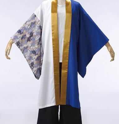 裾に大きくプリントをいれて、さっと羽織れるカッコイイ長半天。