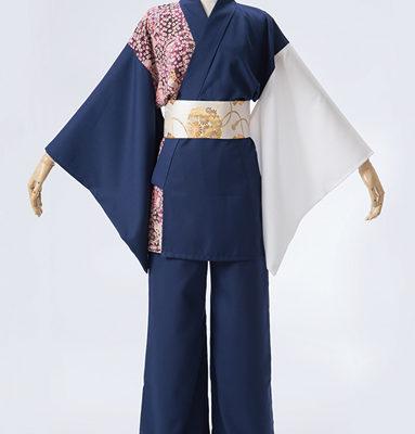 和柄生地を使い、華やかでカッコいい衣装