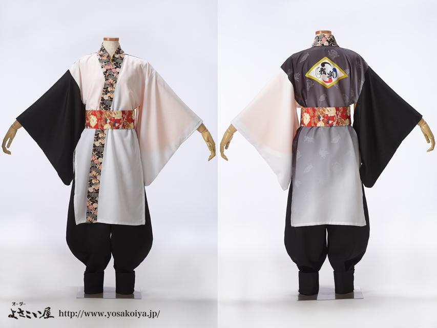 仁愛大学我楽さんのよさこい衣装をご紹介します。四神をイメージして衣装をお作りしました。