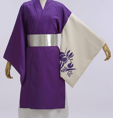 紫と白の上品な両用半天