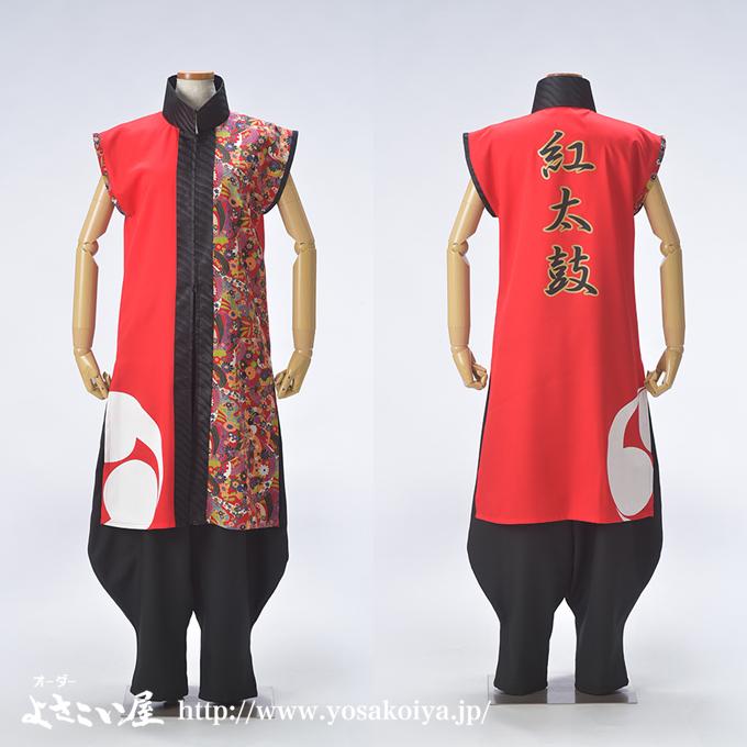 紅太鼓の和太鼓衣装