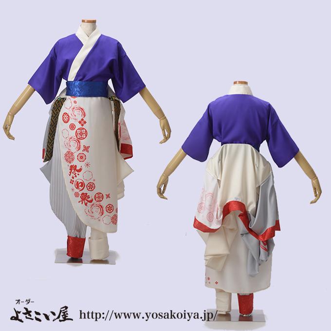 若狭踊り屋祭わ衆のよさこい衣装女性早替1