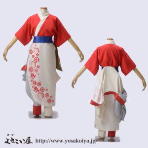 若狭踊り屋祭わ衆のよさこい衣装女性早替2